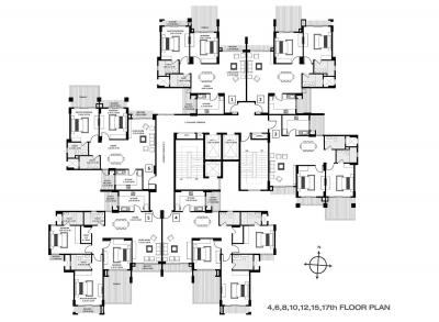 Gallery Cover Image of 2700 Sq.ft 4 BHK Apartment for rent in Godrej Anandam, Ganeshpeth Colony for 45000