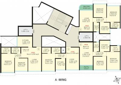 Project Image of 375.98 - 762.52 Sq.ft 1 BHK Apartment for buy in Safal Golf Residences