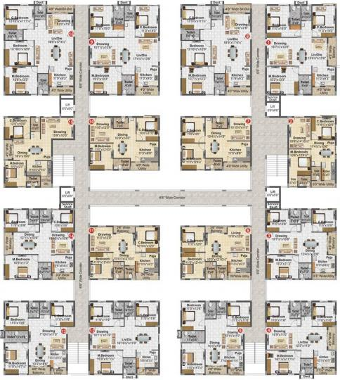 Project Image of 1254.0 - 2660.0 Sq.ft 3 BHK Apartment for buy in Madhavaram Serenity