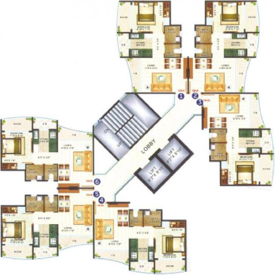 Project Image of 0 - 251.01 Sq.ft 1 BHK Apartment for buy in JSB Nakshatra Primus