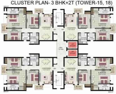 Project Image of 575.0 - 2250.0 Sq.ft 1 BHK Apartment for buy in Jaypee Greens Kensington Boulevard
