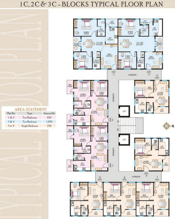 Project Image of 515.0 - 1600.0 Sq.ft 1 BHK Apartment for buy in Modi Paramount Residency