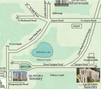 Gallery Cover Image of 1210 Sq.ft 2 BHK Apartment for rent in Ittina Soupernika, Kasavanahalli for 27000