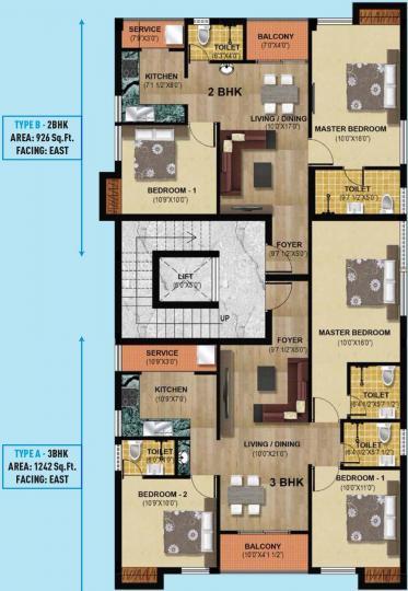 Project Image of 926 - 1242 Sq.ft 2 BHK Apartment for buy in Hari Aadhini