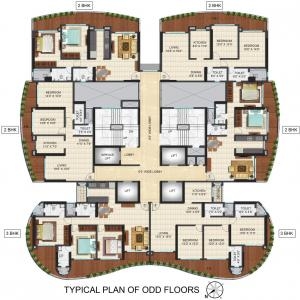 Project Image of 659.0 - 1029.0 Sq.ft 2 BHK Apartment for buy in  Raj Altezza