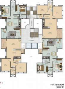 Project Image of 692.66 - 860.57 Sq.ft 2 BHK Apartment for buy in Sancheti Mount N Glory Plot A Phase II