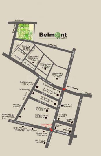 Project Image of 1116 Sq.ft 2 BHK Apartment for buyin Tukoganj for 2800000