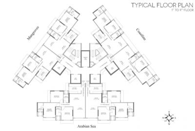 Project Image of 1180.0 - 1630.0 Sq.ft 2 BHK Apartment for buy in Lotus Surprising Versova