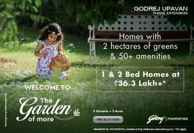 Project Image of 355.53 - 529.05 Sq.ft 1 BHK Apartment for buy in Godrej Upavan