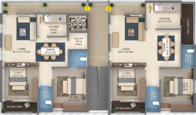 Project Image of 1120.0 - 1150.0 Sq.ft 2 BHK Apartment for buy in Jayanti Western Prime