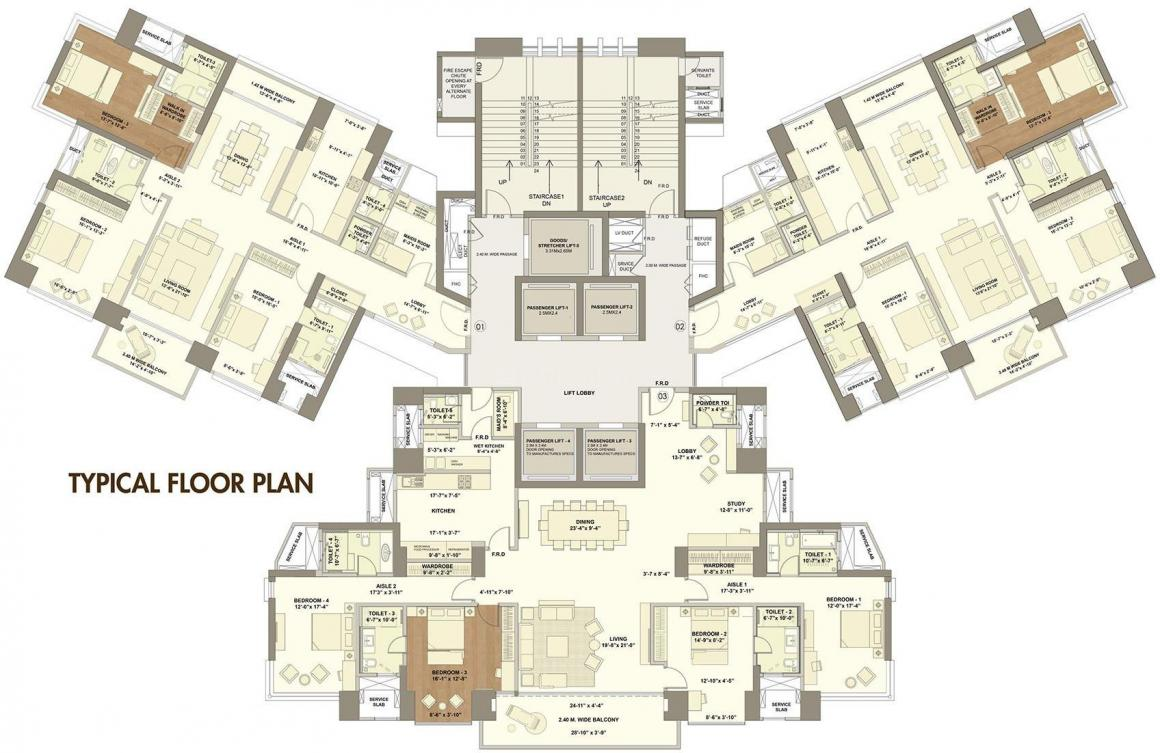 Project Image of 2058.38 - 5775.69 Sq.ft 3 BHK Apartment for buy in Raheja Vivarea Building 2