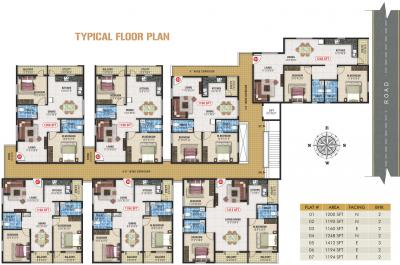 Project Image of 1160.0 - 1412.0 Sq.ft 2 BHK Apartment for buy in JD Blossom