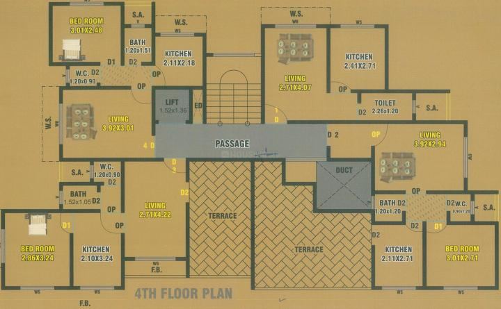 Project Image of 219.0 - 311.0 Sq.ft 1 RK Apartment for buy in Shivam Palace