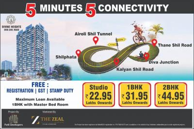 Project Image of 284.0 - 595.0 Sq.ft 1 RK Apartment for buy in Divine Heights