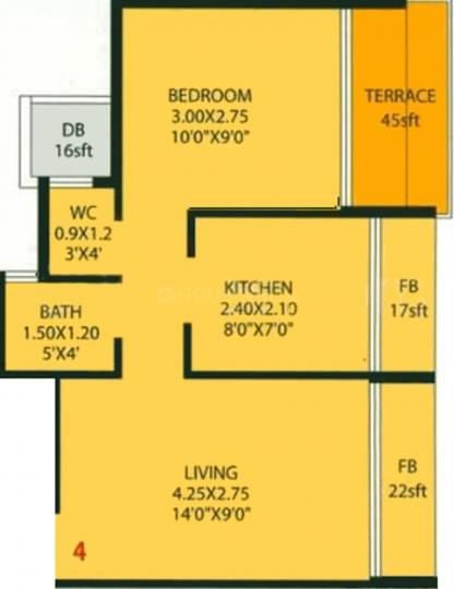 Project Image of 660.0 - 1080.0 Sq.ft 1 BHK Apartment for buy in Harmony Anant Heights