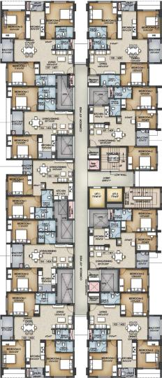 Project Image of 621.08 - 991.36 Sq.ft 2 BHK Apartment for buy in XS Real Catalunya City Flamenco