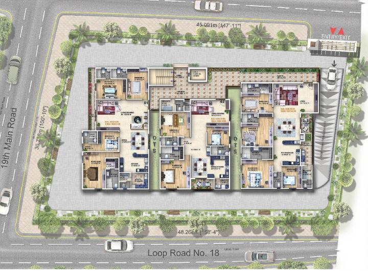 Project Image of 2200.0 - 3886.62 Sq.ft 3 BHK Apartment for buy in Vaishnodevi L Opulence