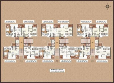 Project Image of 592.0 - 2665.0 Sq.ft 2 BHK Apartment for buy in Nahar F Residences Phase I