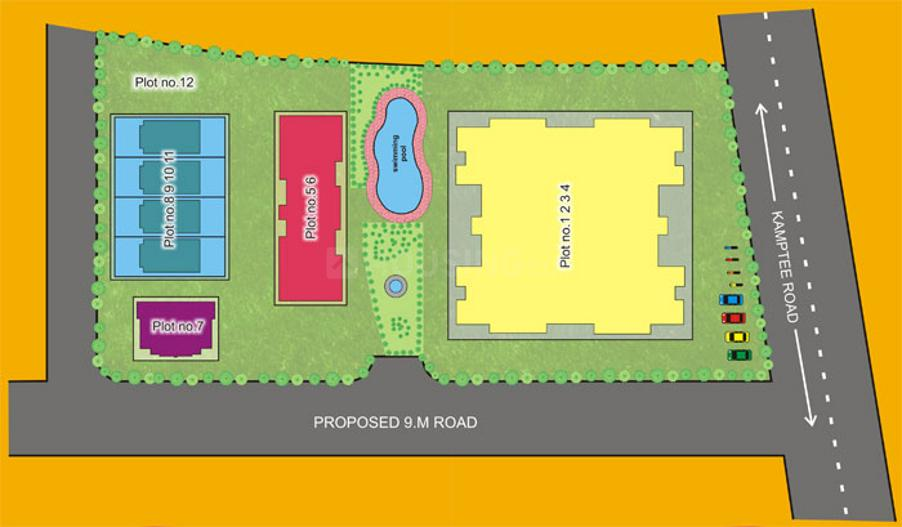 Project Image of 900 - 1500 Sq.ft 2 BHK Apartment for buy in Amrapali Nagpur Apartment