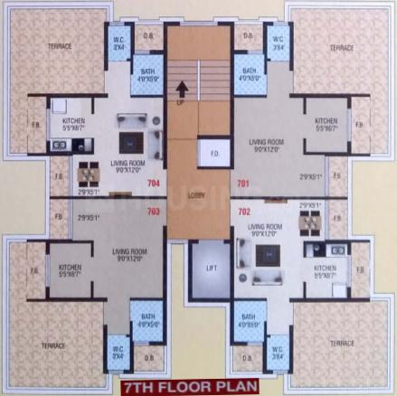 Project Image of 0 - 288.9 Sq.ft 1 RK Apartment for buy in Sairaj Mohan Residency
