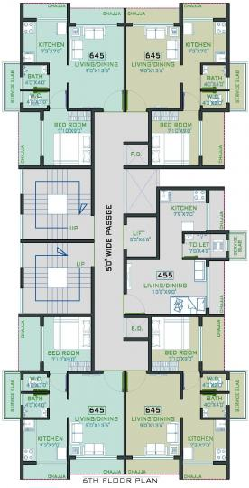Project Image of 114.64 - 296.01 Sq.ft 1 RK Apartment for buy in Gajora The Palm Oak