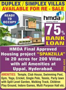 Project Image of 1000 - 2200 Sq.ft 2 BHK Villa for buy in Spanzilla