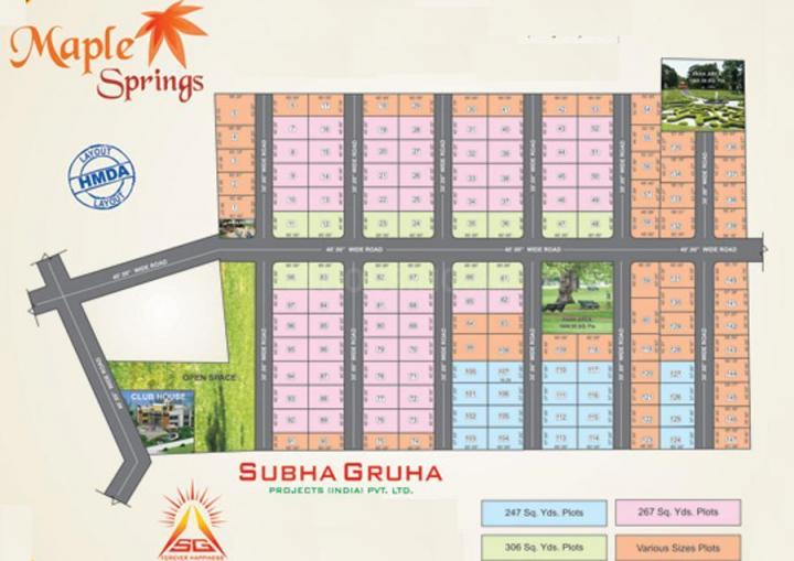 Project Image of 2223.0 - 2754.0 Sq.ft Residential Plot Plot for buy in Subhagruha Maple Spring