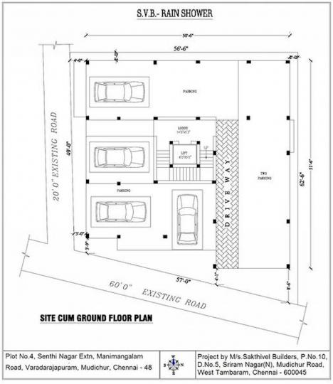 Project Image of 586.0 - 1042.0 Sq.ft 1 BHK Apartment for buy in Sakthivel Rain Shower