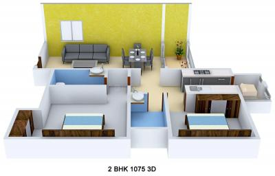 Gallery Cover Image of 1000 Sq.ft 1 BHK Apartment for buy in Mahendra Aarna, Electronic City for 5000000