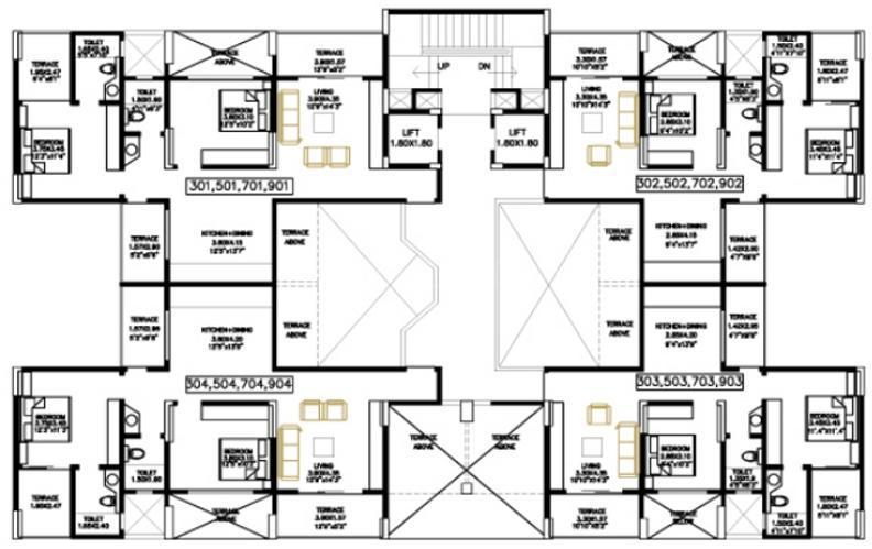 Project Image of 984.0 - 1221.0 Sq.ft 2 BHK Apartment for buy in Bhandari Colonnade Apartment