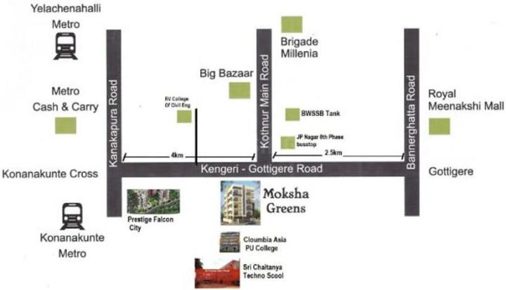 Project Image of 1010.0 - 1320.0 Sq.ft 2 BHK Apartment for buy in S V Moksha Green