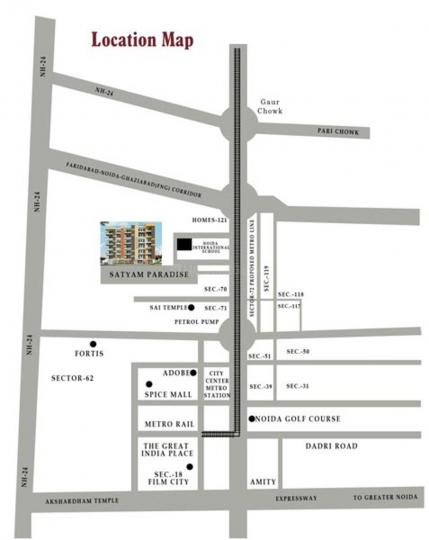 Project Image of 0 - 900 Sq.ft 2 BHK Apartment for buy in Satyam Paradise