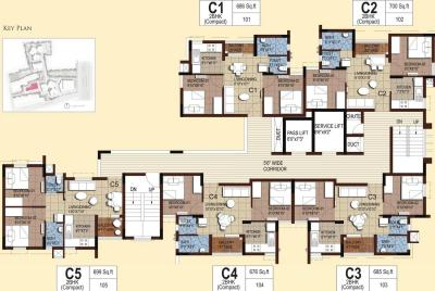 Gallery Cover Image of 734 Sq.ft 2 BHK Apartment for buy in Akshaya Tango Compact Homes, Thoraipakkam for 6400000