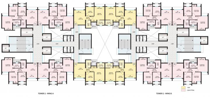 Project Image of 392.0 - 489.0 Sq.ft 1 BHK Apartment for buy in Dosti Planet North Phase 4 Dosti Opal