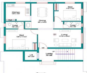 Project Image of 970.0 - 1200.0 Sq.ft 2 BHK Apartment for buy in Alankar Rajeshwari Nagar