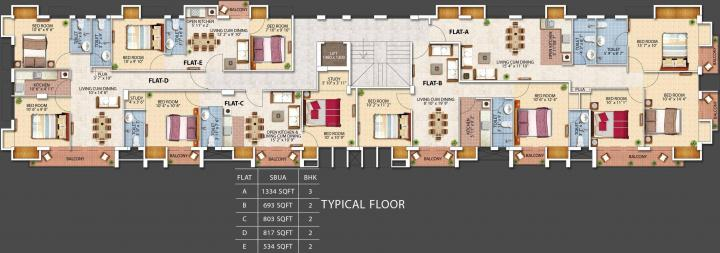 Project Image of 673.0 - 1334.0 Sq.ft 2 BHK Apartment for buy in Crown Palace