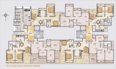 Gallery Cover Image of 650 Sq.ft 1 BHK Apartment for rent in Arihant Riddhi, Ghansoli for 15000