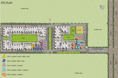 Gallery Cover Image of 750 Sq.ft 2 BHK Apartment for buy in Land Craft Metro Homes, Sanjay Nagar for 2105750