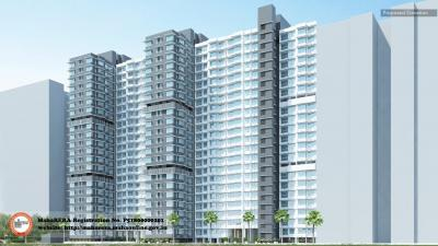 Gallery Cover Image of 860 Sq.ft 2 BHK Apartment for rent in Promenade At The Address, Ghatkopar West for 45000