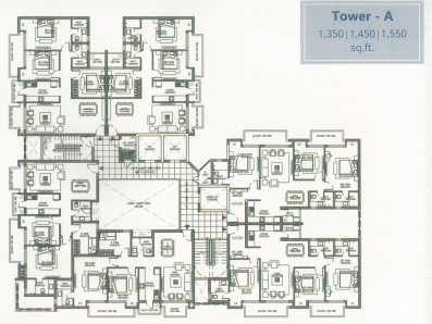 Project Image of 1350.0 - 1795.0 Sq.ft 2.5 BHK Apartment for buy in Saha Meghdutam Encore