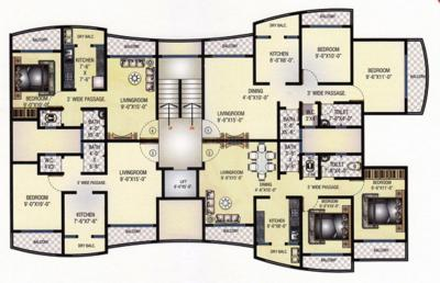 Gallery Cover Image of 685 Sq.ft 1 BHK Apartment for rent in Kothari K D Empire, Mira Road East for 11000