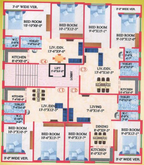 Project Image of 743.0 - 804.0 Sq.ft 2 BHK Apartment for buy in M A H Jai Ganesh Apartment 1