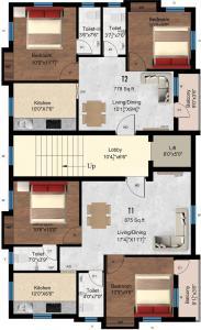 जे के जयवर्धन में खरीदने के लिए 778.0 - 875.0 Sq.ft 2 BHK अपार्टमेंट प्रोजेक्ट  की तस्वीर