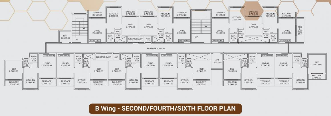 Project Image of 256.29 - 480.5 Sq.ft 1 RK Apartment for buy in Advance Legacy