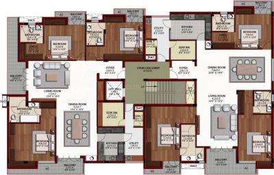 Gallery Cover Image of 2850 Sq.ft 3 BHK Apartment for rent in Arihant Jashn, Egmore for 100000
