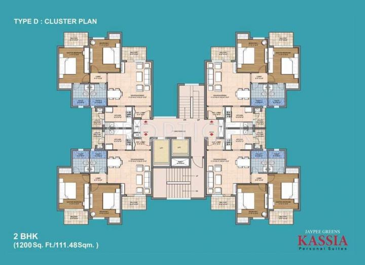 Project Image of 770.0 - 2015.0 Sq.ft 1 BHK Apartment for buy in Jaypee Greens Kassia