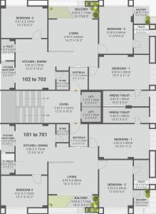 Project Image of 0 - 1261.42 Sq.ft 3 BHK Apartment for buy in Guru Elan Pride