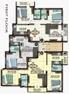 Project Image of 506.0 - 1063.0 Sq.ft 1 BHK Apartment for buy in MP Avni