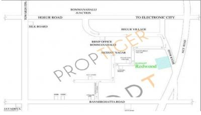 Gallery Cover Image of 735 Sq.ft 1 BHK Apartment for rent in Red Wood, Akshayanagar for 10500