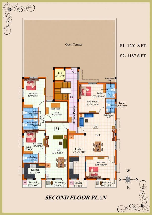 Project Image of 870.0 - 2042.0 Sq.ft 2 BHK Apartment for buy in Rajus Muniram
